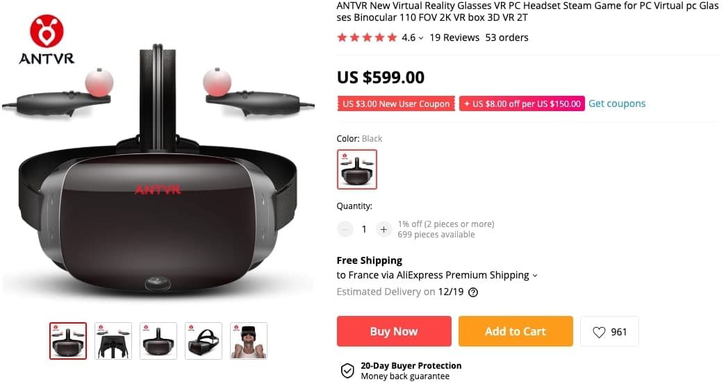 ANTVR Aliexpress