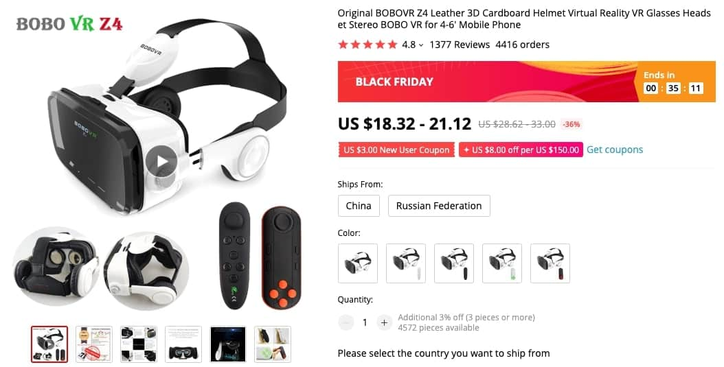 BOBO VR casque realité virtuelle