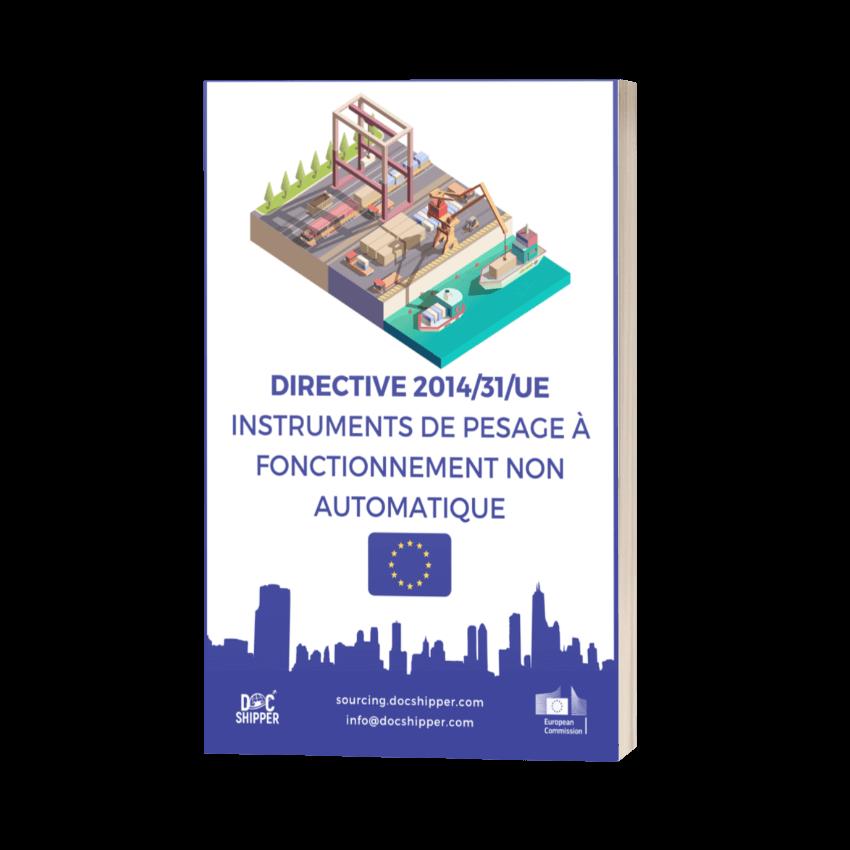 DIRECTIVE 2014-31-UE - Instruments de pesage à fonctionnement non automatique