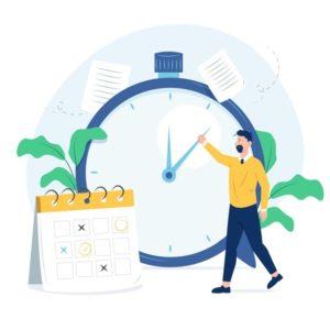 concept-gestion-du-temps-design-plat