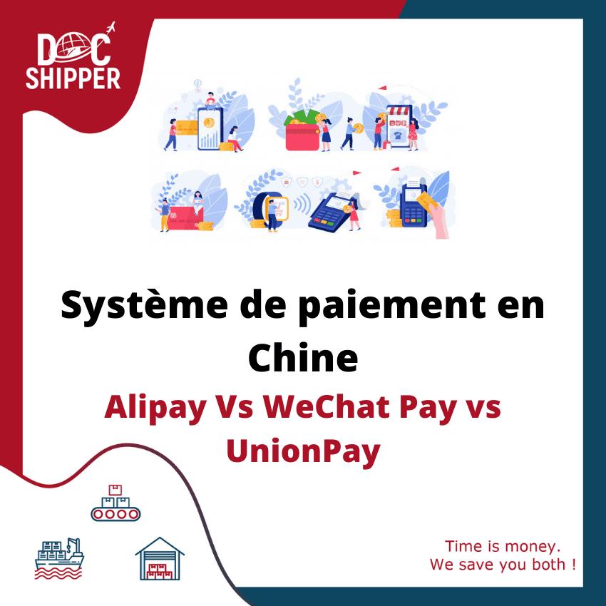 Système de paiement en Chine Alipay Vs WeChat Pay vs UnionPay