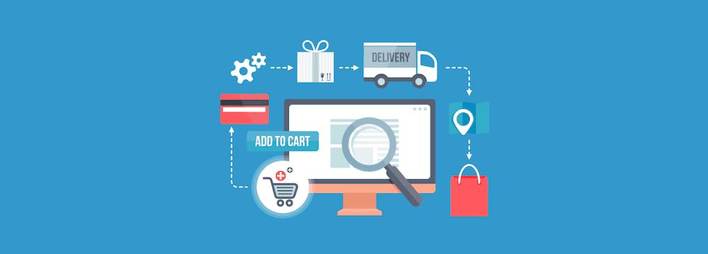 e-commerce process infographie