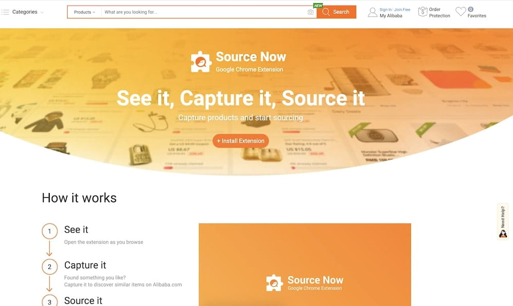 extension alibaba source now
