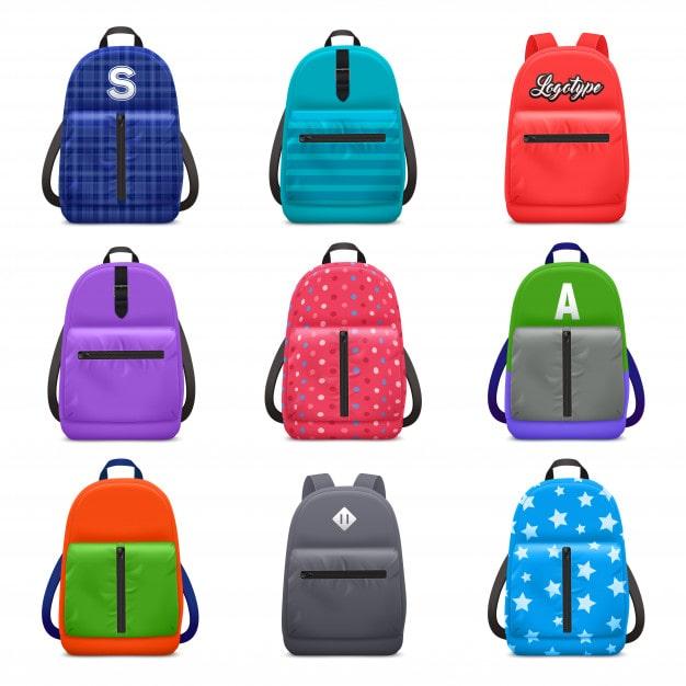 modele-couleur-sac-dos-scolaire-realiste-sertie-images-isolees-sacs-pour-enfants-motifs-textiles-modernes-illustration-vectorielle