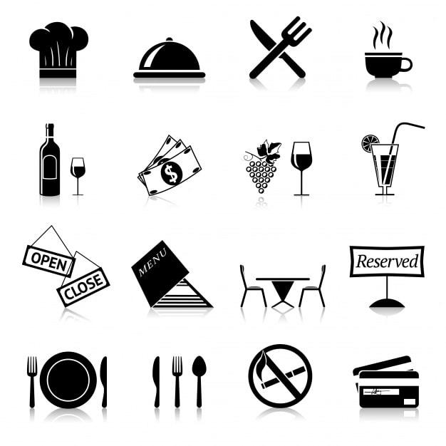 restaurant-black-icones