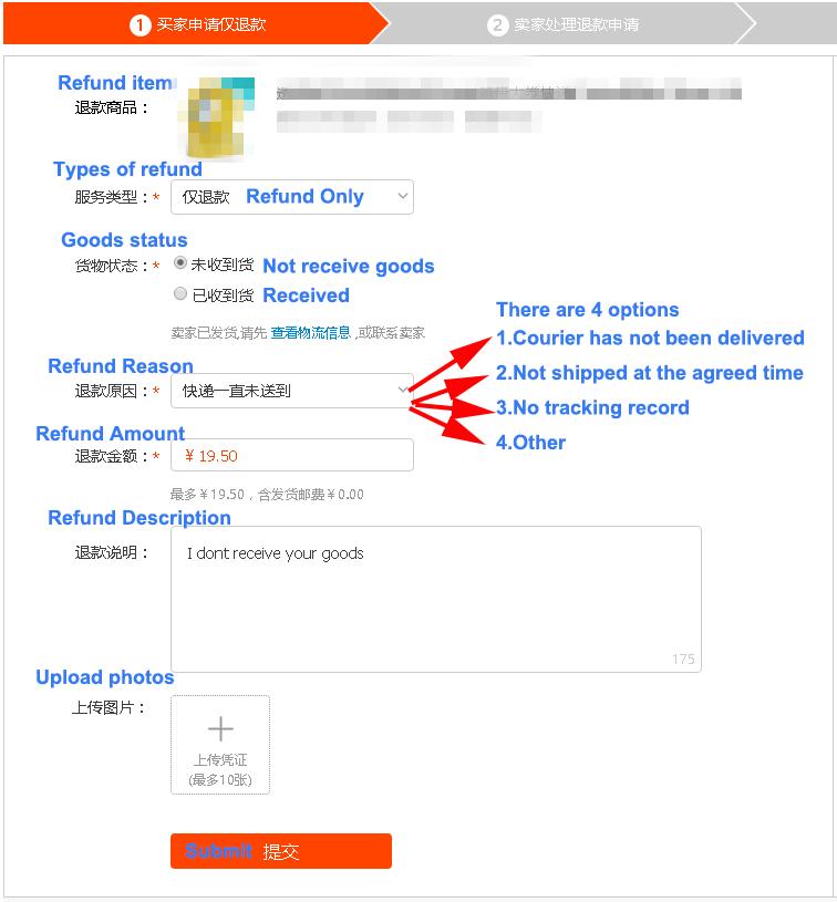 Bien non reçus sur Taobao et Tmall