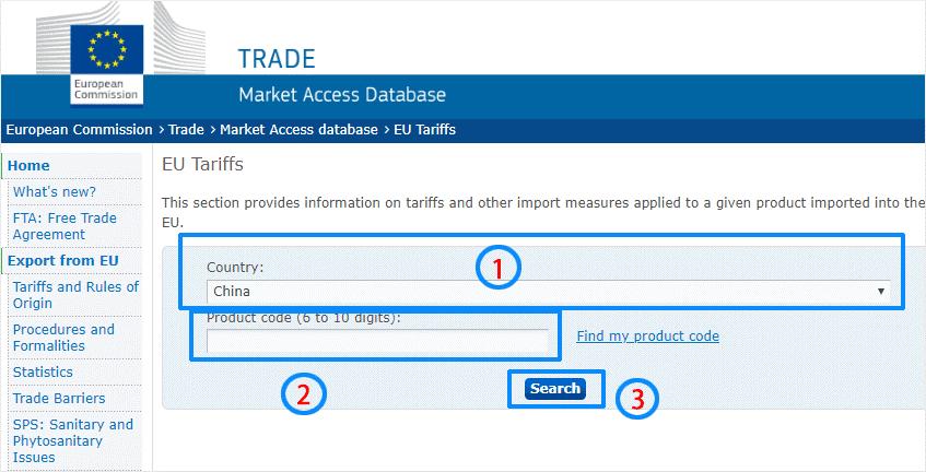 Consulter les taux de droits de douanes 2
