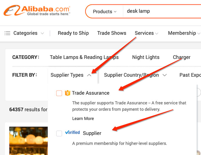 alibaba search results