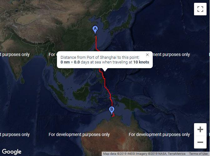 China to Australia