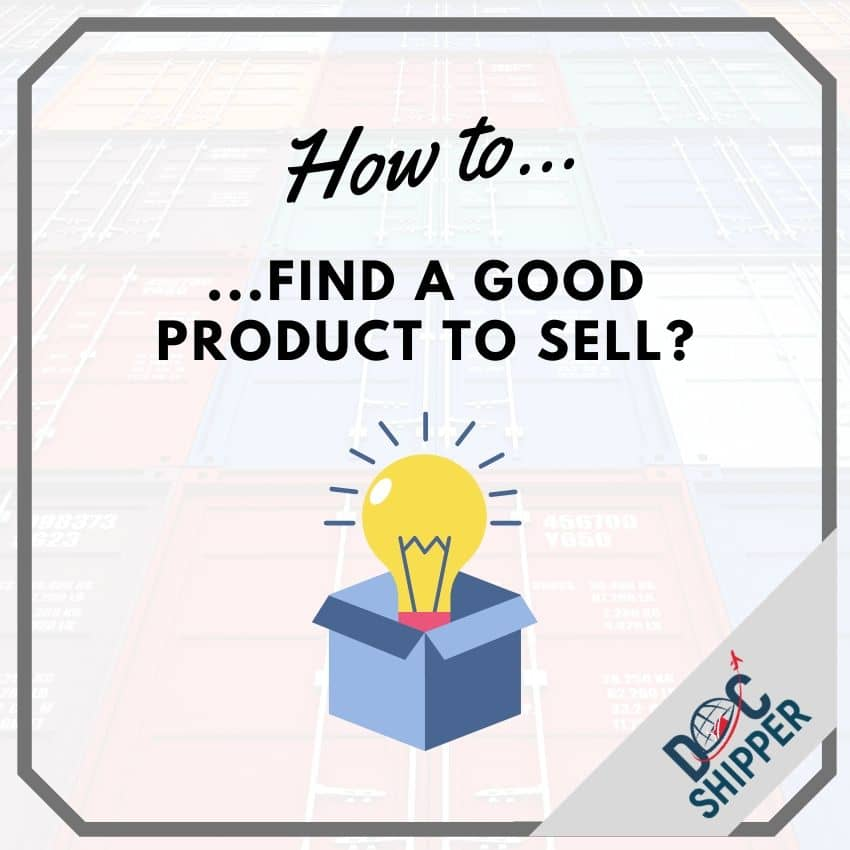 💡How to find a good product to sell?