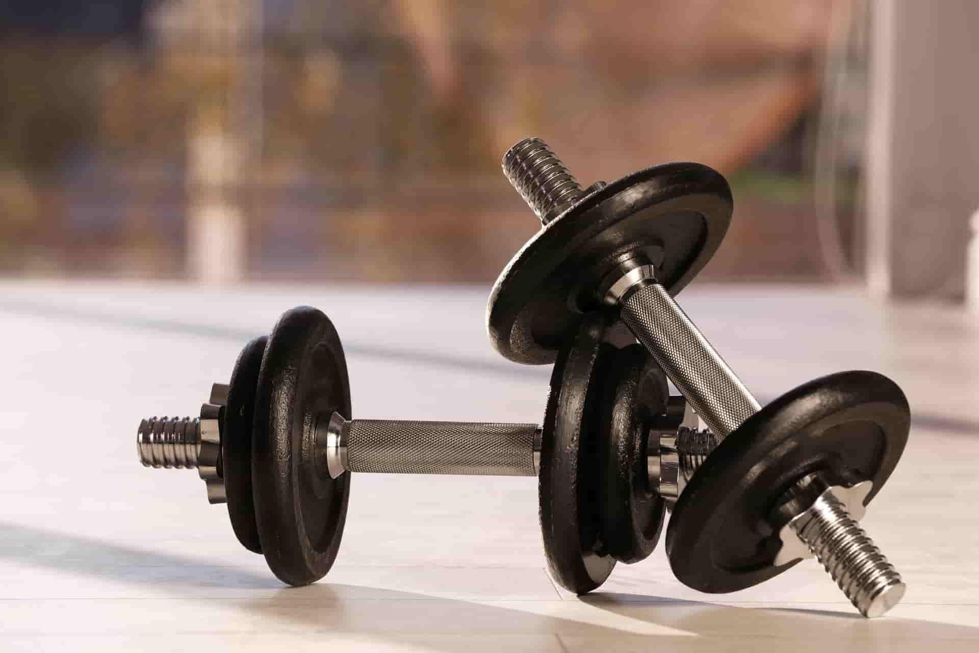 Deux haltères musculation