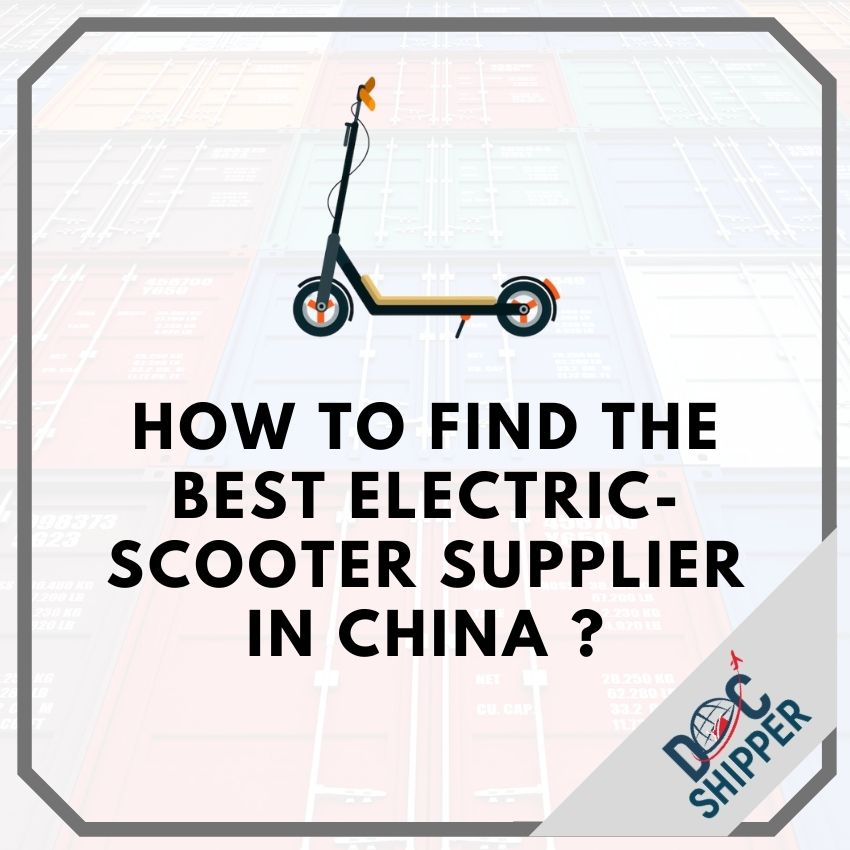 how to import e scooter China