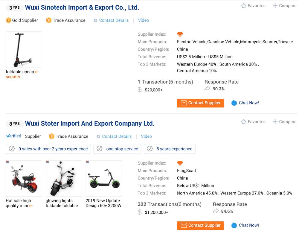 alibaba-supplier e-scooter