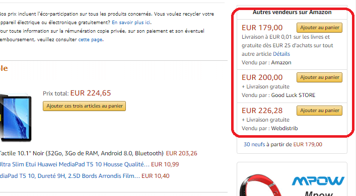 Vendeurs-Amazon