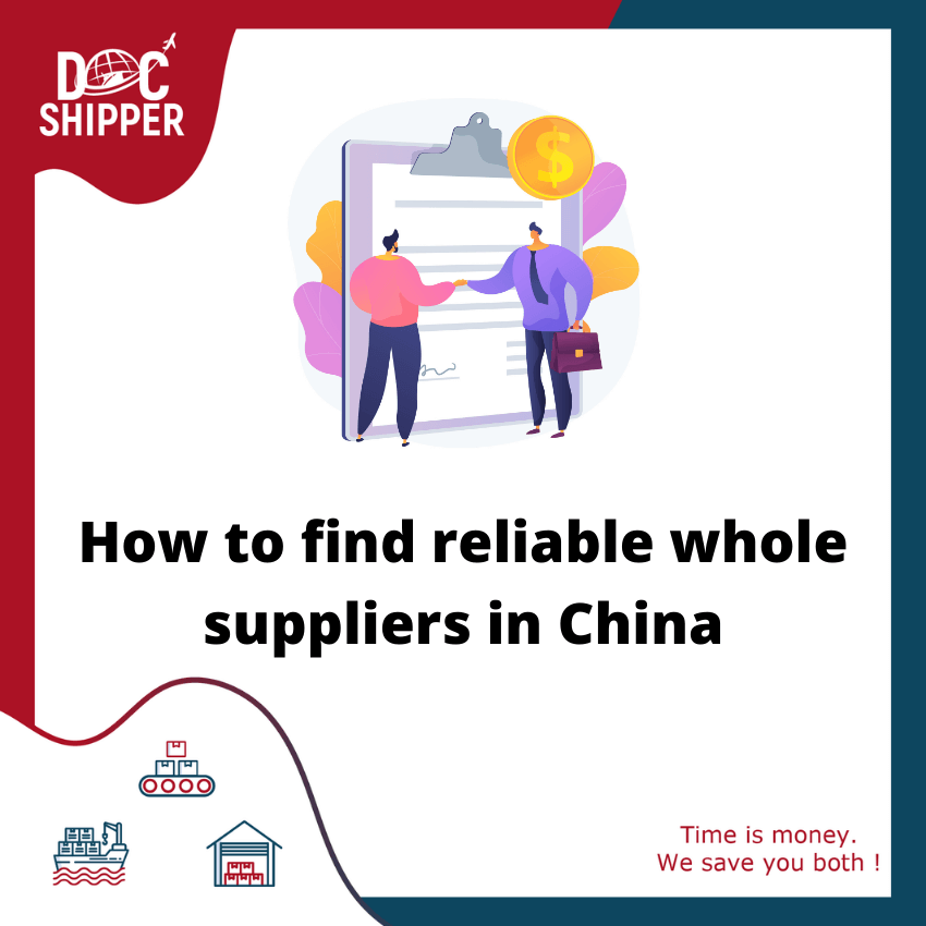 how to find supplier china
