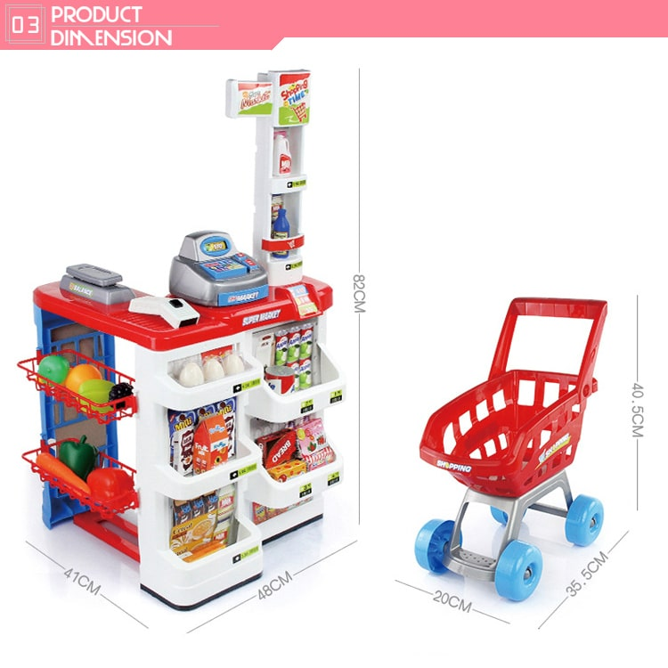 Kids supermarket toy Ocean Toys