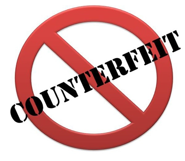 No counterfeit products