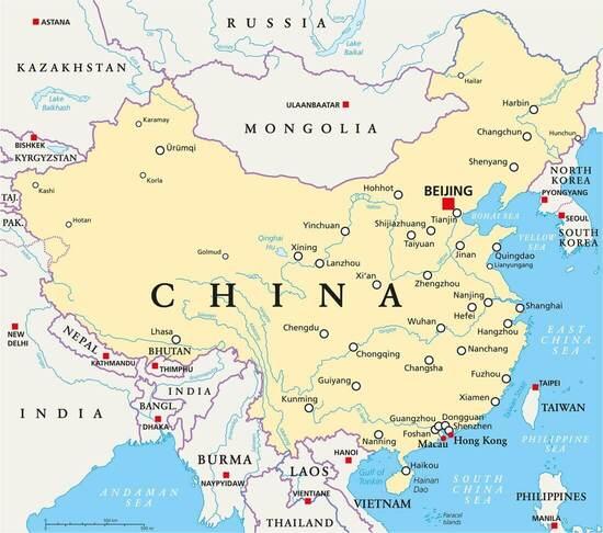 Carte-de-la-Chine