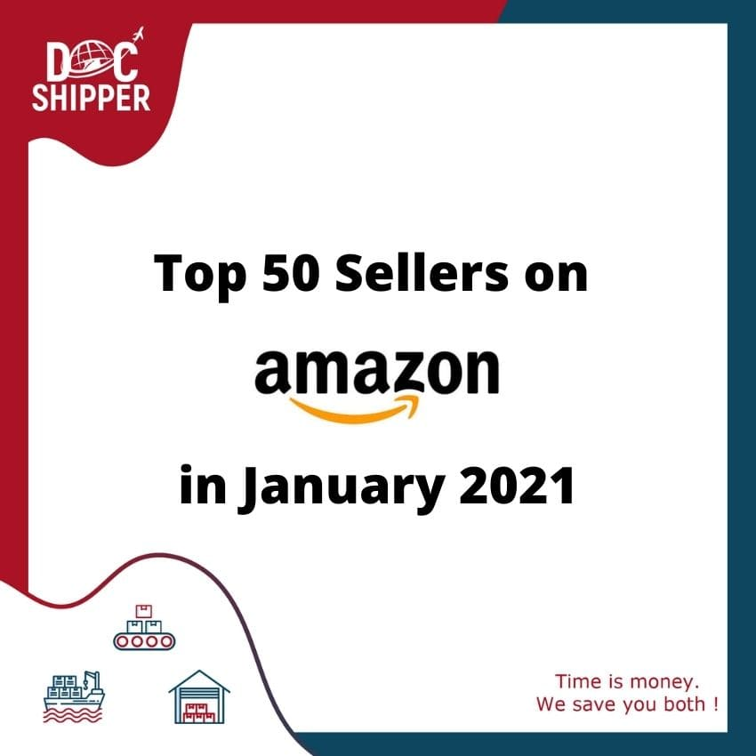 Top 50 Sellers on Amazon in January 2021