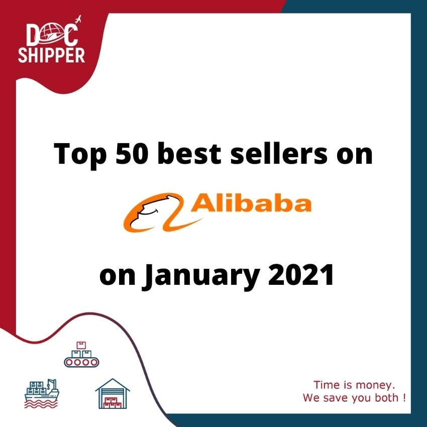 Top 50 best sellers on Alibaba on January 2021