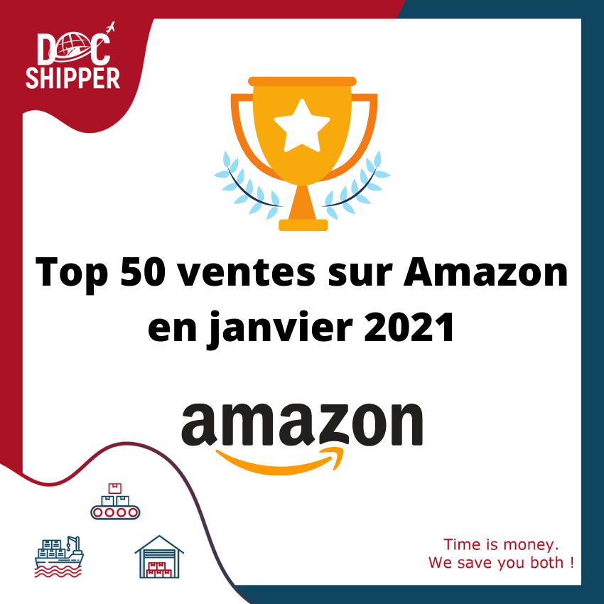 Top 50 ventes sur Amazon en janvier 2021
