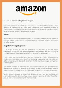 Exemple de contrôle de conformité CE d'Amazon