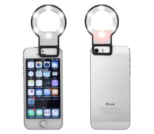 Lampe selfie miroir personnalisable pour smartphone