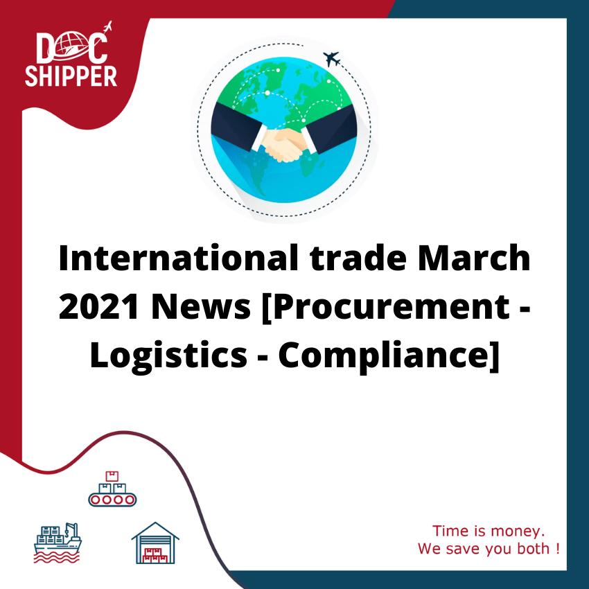 News international trade march 2021