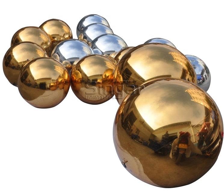 Ballon à miroir gonflable