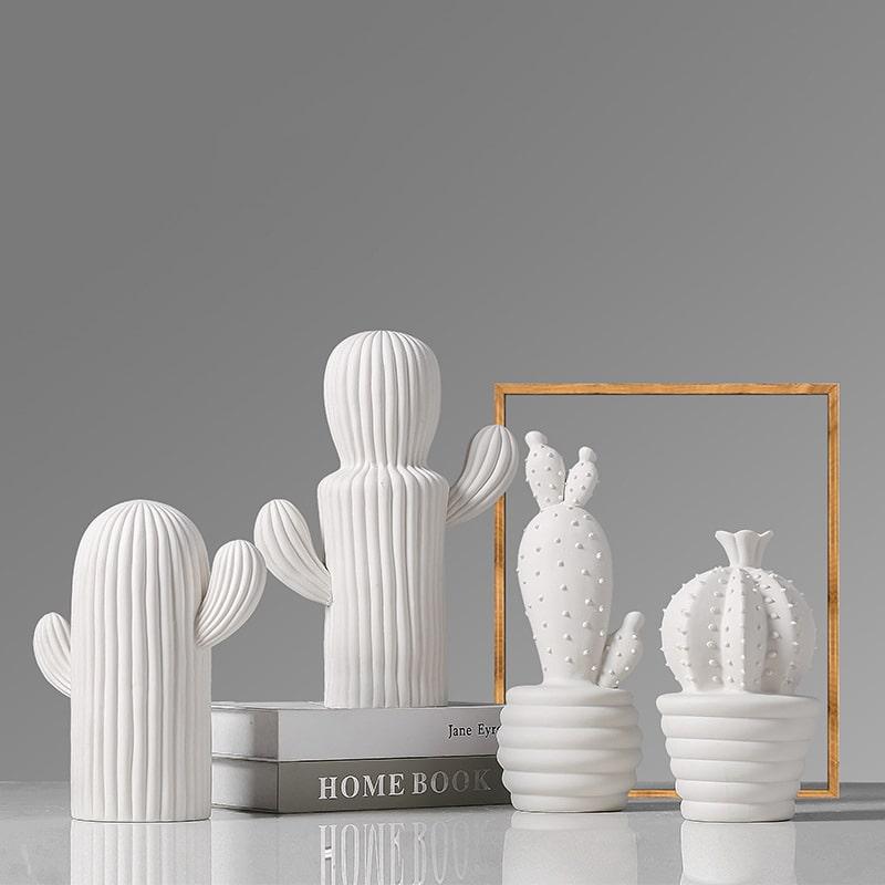 Décoration cactus en céramique