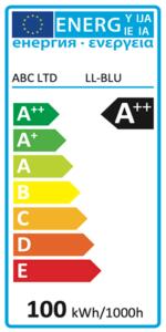 Etiquette énergie lumière