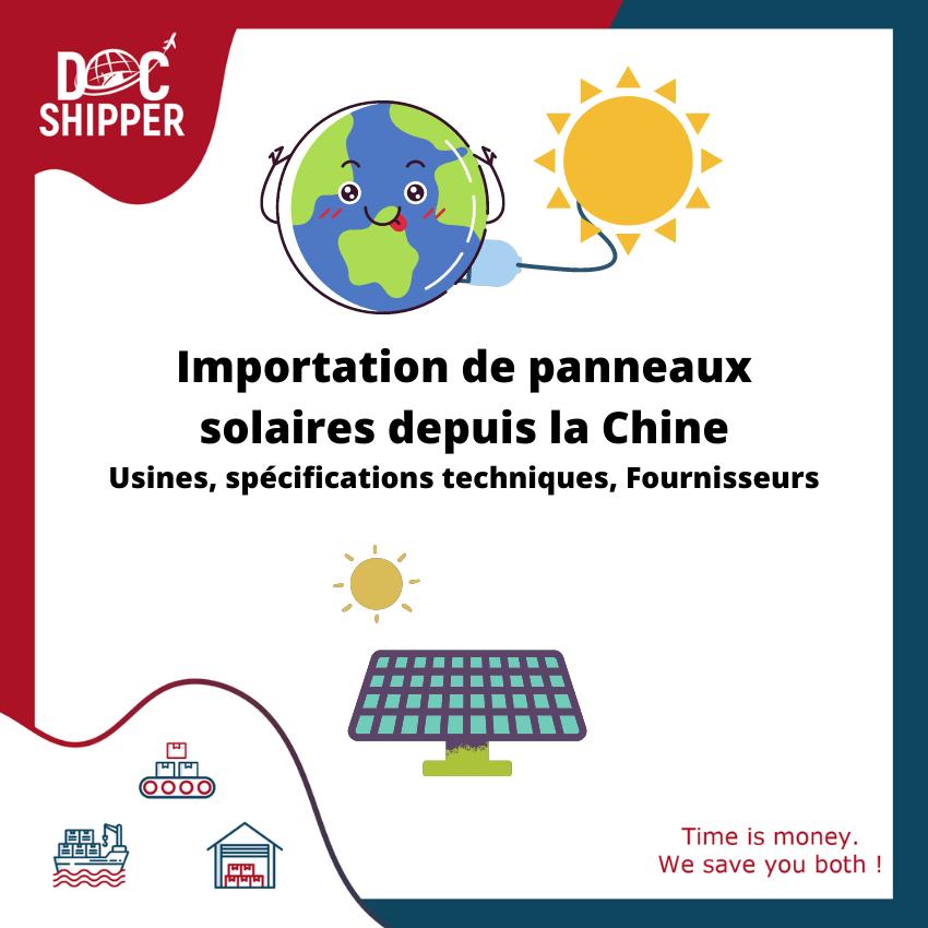 Importation de panneaux solaires depuis la Chine