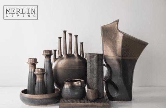 Metal glazed ceramic ornaments-docshipper
