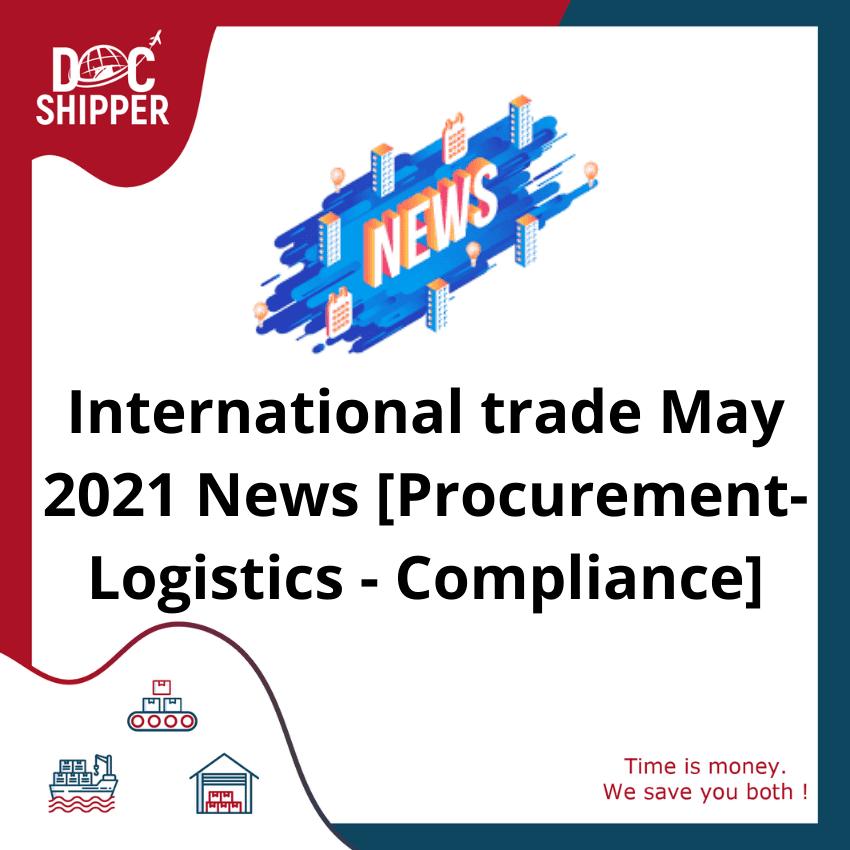 International trade May 2021 New