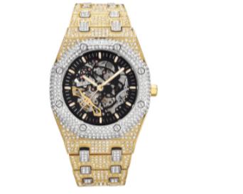 Watch Full Diamond Automatic Chronograph-Docshipper