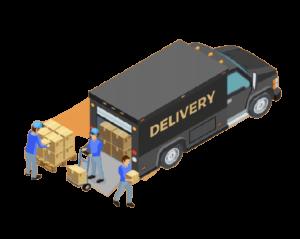 déchargement camion
