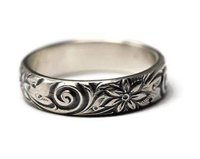 925 Sterling Silver Flower Pattern
