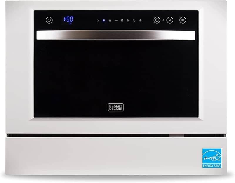 BLACK+DECKER BCD6W Compact Countertop Dishwasher