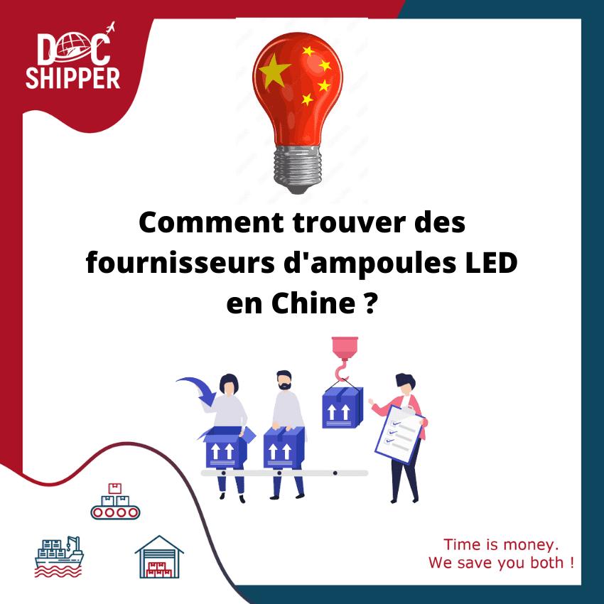 Comment trouver des fournisseurs d'ampoules LED en Chine