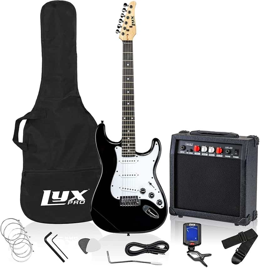 LyxPro Electric Guitar 39 inch Complete