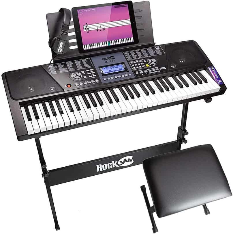 RockJam 61 Key Keyboard Piano With LCD Display Kit