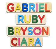 Wooden Personalized Name Puzzle Personalized DocShipper