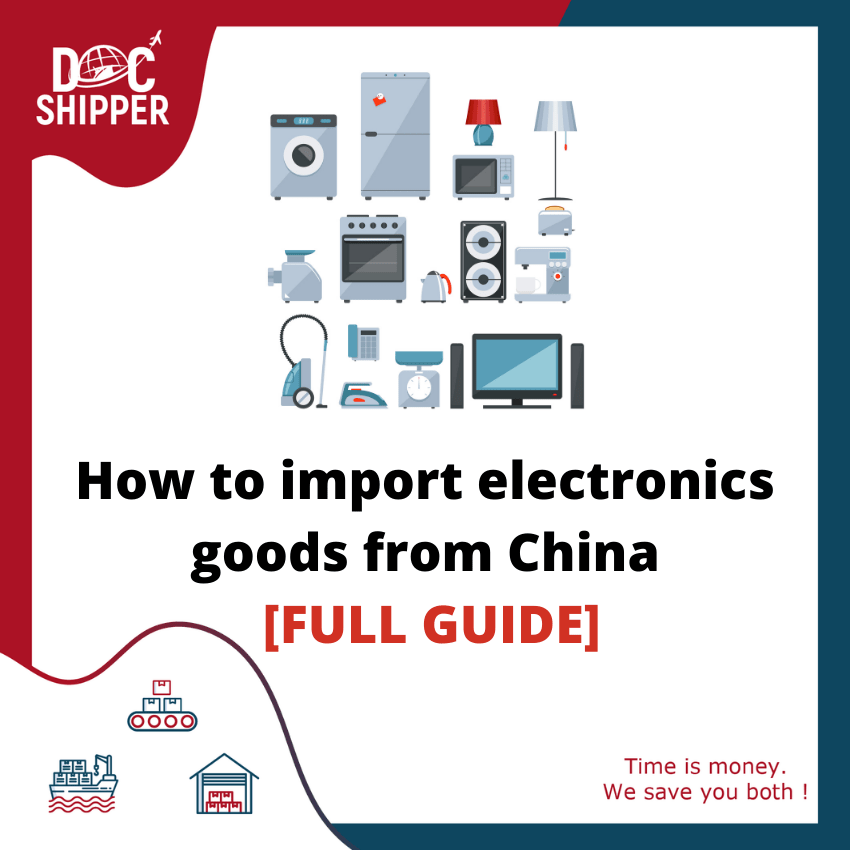 how to import electronic goods from china